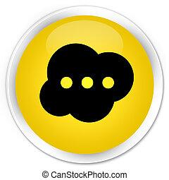 Brain icon premium yellow round button
