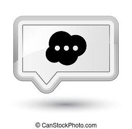 Brain icon prime white banner button