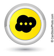 Brain icon prime yellow round button
