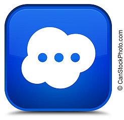 Brain icon special blue square button