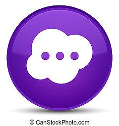 Brain icon special purple round button