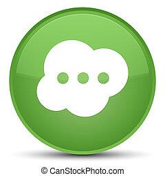 Brain icon special soft green round button