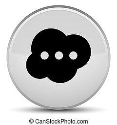 Brain icon special white round button
