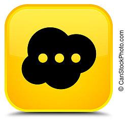Brain icon special yellow square button
