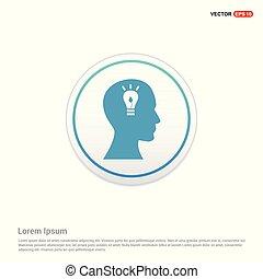 Brain icon - white circle button