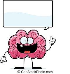 Brain Idea - A happy cartoon brain with an idea.