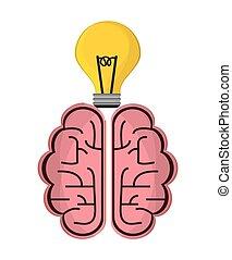 brain idea creative solution concept