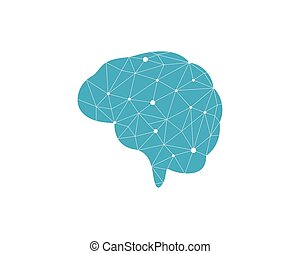 Brain illustration icon template