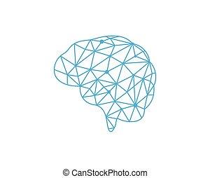 Brain illustration icon template