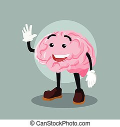 brain illustration vector design