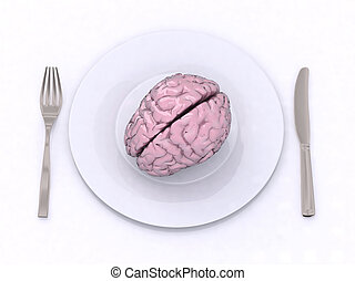 brain in the dish 3d illustration