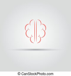 Brain isolated vector abstract logo of lines