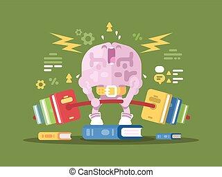 Brain lifting weight