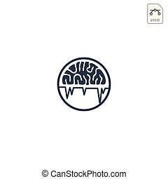 brain logo design for health care business vector icon isolated