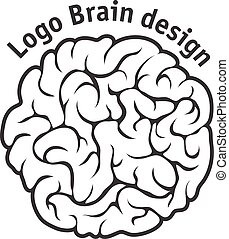 Brain Logo design vector template.