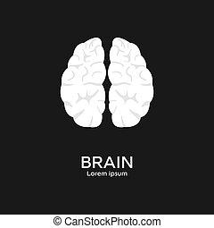 Brain logo template. Mind, intelligence concept. Clean and modern vector illustration for design, web.
