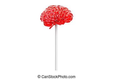 Brain Lollipop, 3D rendering