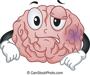 Brain Mascot - Mascot Illustration Featuring a Brain...