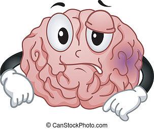 Brain Mascot - Mascot Illustration Featuring a Brain ...