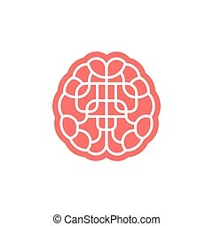 Brain maze icon isolated on white.