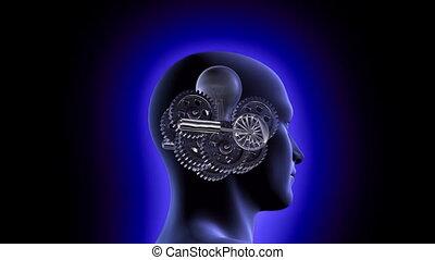 Brain Mechanics - A 1080p resolution stock video of gears...