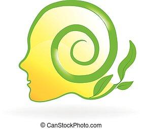 Brain nature health logo