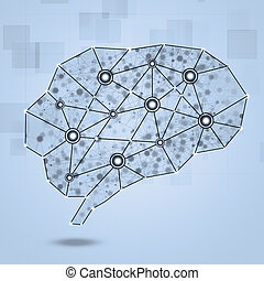 Brain Network Concept Background