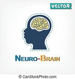 Brain ( Neurological symbol ) ( flat design )