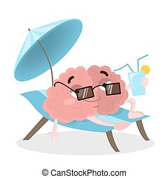 Brain on vacations. - Brain on vacations relaxing on the...