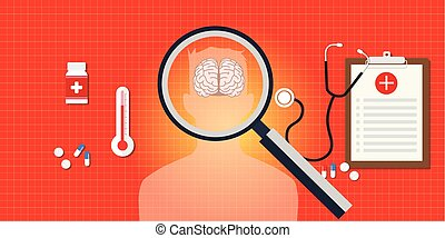 brain or head disease with medical report