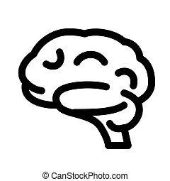 Brain organ line icon. Brain symbol or sign.
