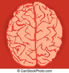brain pixel art