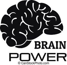 Brain power logo, simple style