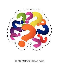 brain question mark image vector illustration eps 10
