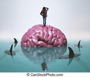 Brain sharks water