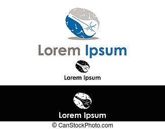 Brain silhouette icon
