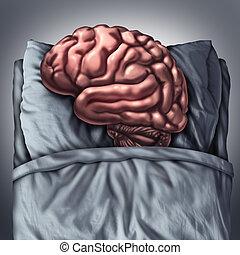 Brain Sleep - Brain sleep health care and medical concept...