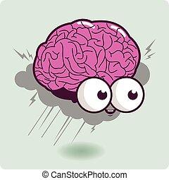 Brain storm cartoon character - Illustration of a cartoon...