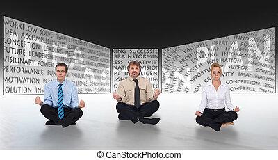 brain-storming, dans, business, démarrage, concept