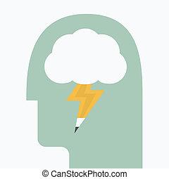 Brain storming eps 10 vector illustration
