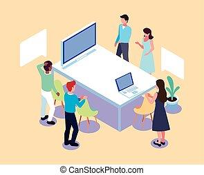 brain-storming, gens, méthode, analytic, fonctionnement, équipe, groupe, projet