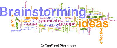 brain-storming, mot, nuage