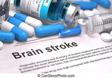 Brain Stroke Diagnosis. Medical Concept. Composition of Medicame.