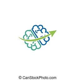 brain talk idea logo template vector illustration icon element