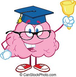 Brain Teacher Ringing A Bell