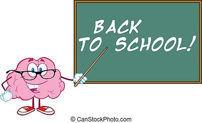 Brain Teacher With A Pointer