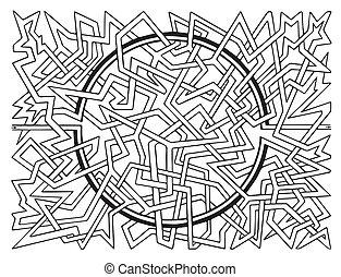 Brain-teaser vector labyrinth