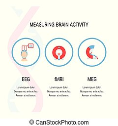 Brain tests vector icons