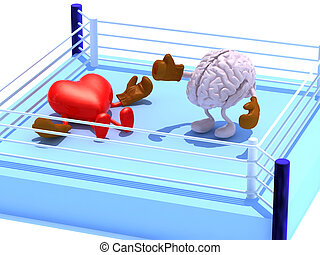 Brain that is fighting with the heart