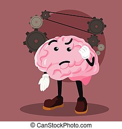 brain thinking vector illustration